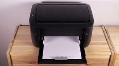 Office desktop laser printer, 4k Stock Footage