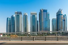 Jumeirah Lakes Towers in Dubai, United Arab Emirates Stock Photos
