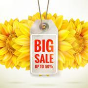 Autumn seasonal sale label. EPS 10 Stock Illustration