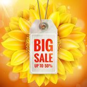 Autumn seasonal sale label. EPS 10 - stock illustration