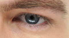 Man eye looking away Stock Footage