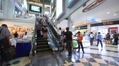View of MBK interior shopping center - stock footage