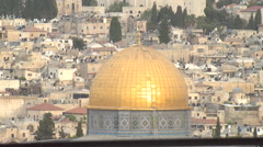 Jerusalem's Dome of the Rock,  of the oldest works of Islamic architecture. Stock Footage