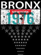 Bronx ew York sport typography, t-shirt graphics, vectors Stock Illustration