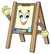 Easel theme image - eps10 vector illustration. Stock Illustration