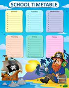 Weekly school timetable thematics - eps10 vector illustration. Piirros