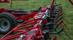 Mower conditioner is folded Stock Footage