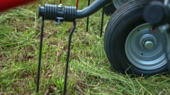 Mower conditioner teeth are slowly moving Stock Footage