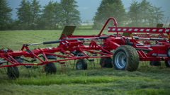 Mower conditioners lifts up Stock Footage