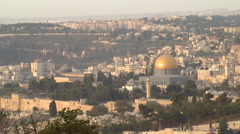Jerusalem's Dome of the Rock and the Temple Mount Stock Footage