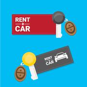 Car rent concept vector flat banner Stock Illustration