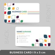 Business card template for your corporate or personal presentation. Piirros