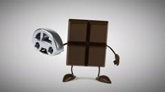 Chocolate - Digital animation Stock Footage