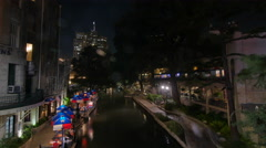 San Antonio River Walk Timelapse Stock Footage
