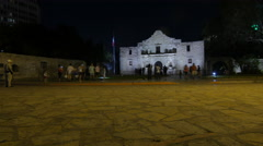 Alamo at Night Timelapse - stock footage