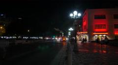 San Antonio Street Night Timelapse Stock Footage