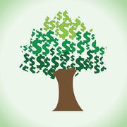 Big dollar tree clipart Stock Illustration
