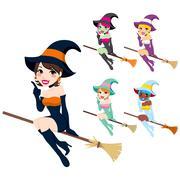 Beautiful Witch - stock illustration
