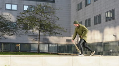 Stunts on skateboard Stock Footage