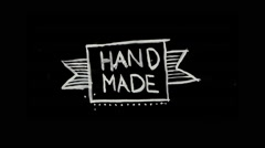 Hand made title Stock Footage