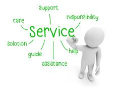 service - stock illustration