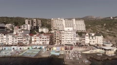 Hotels in Crimea.  Camera is flying to the left. The total frame. - stock footage