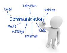 comunication - stock illustration
