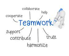 teamwork - stock illustration