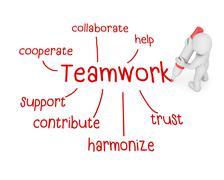 Teamwork Stock Illustration