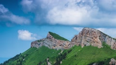 Caucasus mountain in nature park Big Thach Stock Footage