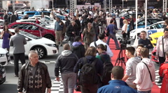 Car show in Belgrade-Serbia Stock Footage