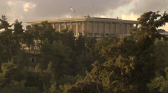 The Knesset, Israel's Houses of Parliament in Jerusalem Stock Footage