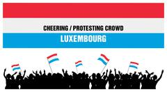 Cheering or Protesting Crowd Luxembourg - stock illustration