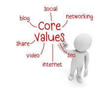 core values - stock illustration
