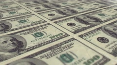 3d animation of printing 100 dollar notes seamless looping Stock Footage