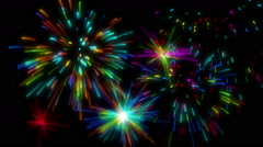 High-definition abstract fireworks video 3d render, HD 1080p Stock Footage