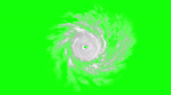 Tropical cyclone on green screen, CG animation Stock Footage