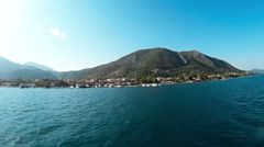 Ship ride around Island of Lefkada in Greece Stock Footage