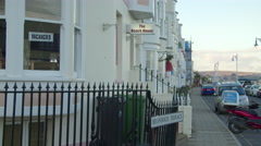 Hotel and sign vacancies on Esplanade, Weymouth Stock Footage