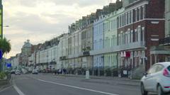 Esplanade in Weymouth, England Stock Footage