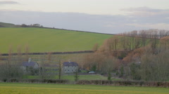 English countryside, hills, meadows and mansions. Stock Footage
