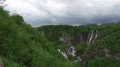 The view of Plitvice Lakes Stock Footage