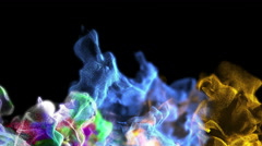 Abstract flame consisting of particles, 3D animation, looping Stock Footage