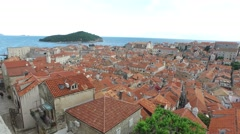 Red roofs of Dubrovnik, Croatia Stock Footage