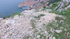 The of Dubrovnik from the top of the mountain Stock Footage