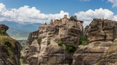 Bright and colorful timelapse of Meteora, Greece. Inspiring Travel! Stock Footage