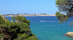 Detail of the Spanish coast (Costa Brava) Stock Footage