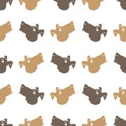 Dog Seamless Animal Pattern Piirros