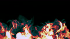 Beautiful Particles like the flames in the fireplace, 3D, looping - stock footage
