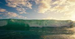 Blue Ocean Wave Breaking Stock Footage